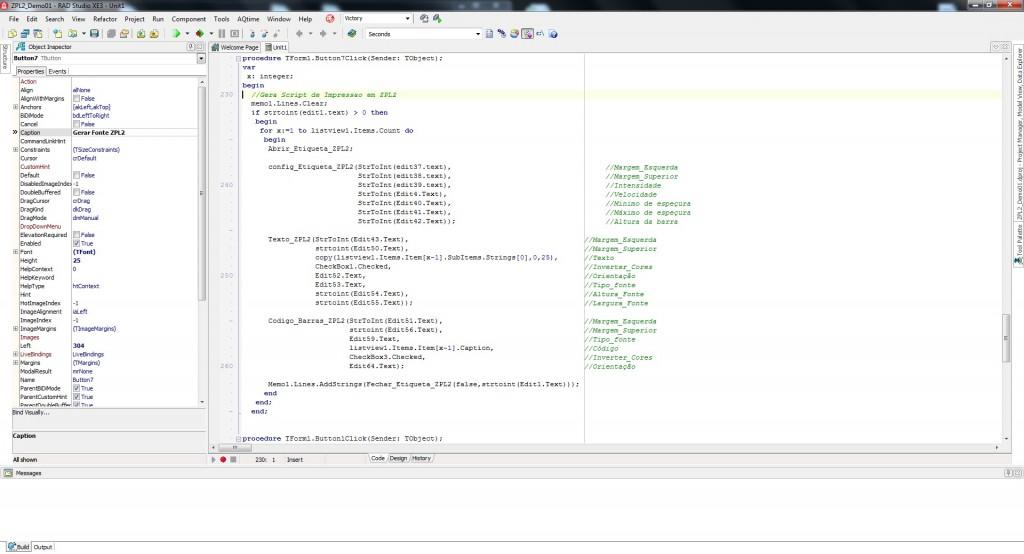 Clique para visualizar o código fonte do demo de uso em Delphi